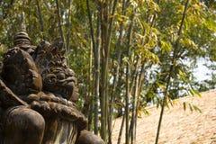 Arte di pietra ancian del mostro di Garuda Fotografia Stock Libera da Diritti