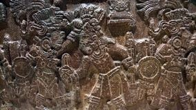 Arte di pietra antica di Maxican fotografia stock libera da diritti