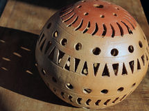 Arte di pietra del giardino della sfera Immagine Stock