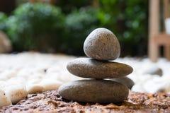 Arte di pietra di zen Fotografia Stock