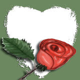 Arte di schiocco - Rosa con cuore Immagini Stock