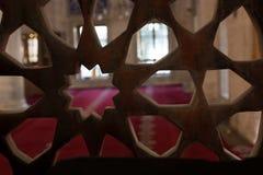 Arte di scultura di marmo dell'ottomano nei modelli floreali Fotografia Stock