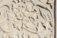 Arte di scultura di marmo dell'ottomano nei modelli floreali Fotografie Stock Libere da Diritti