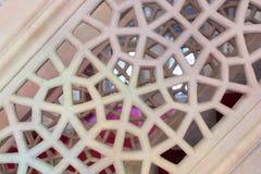 Arte di scultura di marmo dell'ottomano nei modelli floreali Fotografie Stock