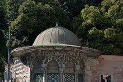 Arte di scultura di marmo dell'ottomano nei modelli floreali Immagine Stock
