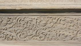 Arte di scultura di marmo dell'ottomano nei modelli floreali Immagine Stock Libera da Diritti