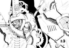 Arte di Steampunk Fotografia Stock Libera da Diritti