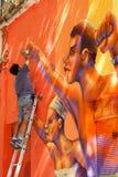 Arte di Strret a Santiago, Cile Fotografia Stock Libera da Diritti