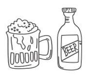 Arte di vetro di birra Fotografia Stock Libera da Diritti