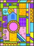 Arte di vetro macchiato di Arte-deco royalty illustrazione gratis