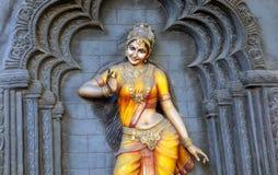 Arte di Wall del ballerino di Bharatanatyam dell'indiano Fotografia Stock