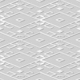 arte Diamond Check Cross Tracery Frame del Libro Blanco 3D stock de ilustración