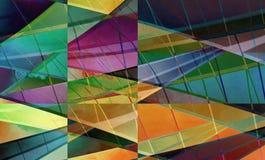Arte digital colorida do fundo feita com colagem da foto ilustração stock