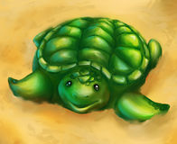 Arte digital da tartaruga Fotografia de Stock Royalty Free