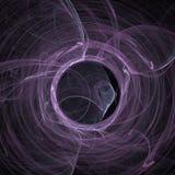 Arte digital del rosa y blanco de la mezcla del humo de la hélice de las nubes de las curvas del fractal futurista ilustración del vector