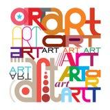Arte - diseño del texto Fotos de archivo libres de regalías