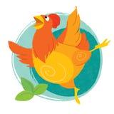 Arte divertido de Pascua con el pollo Fotografía de archivo
