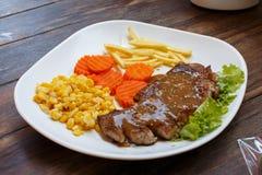 Arte do alimento do detalhe do close up do bife imagem de stock royalty free