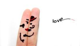 Arte do amante do dedo Imagens de Stock Royalty Free
