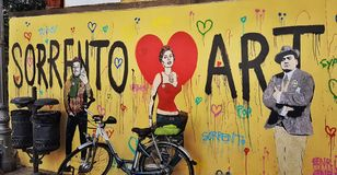 Arte do amor de Sorrento foto de stock