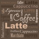 Arte do café ilustração stock