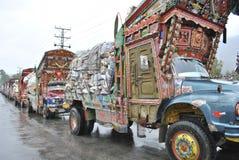 Arte do caminhão de Paquistão e fonte de Marbal Fotografia de Stock Royalty Free