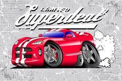 Arte do carro de competência Ilustração Royalty Free