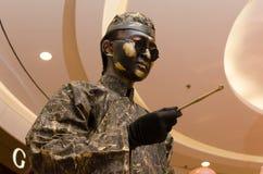 Arte do desempenho, Bronzemen Imagem de Stock