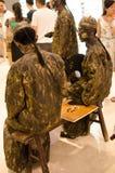 Arte do desempenho, Bronzemen Imagens de Stock