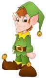 Duendes do Natal - personagem de banda desenhada - ilustração do vetor Fotografia de Stock