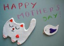 Arte do dia de mães de Hapyy Fotografia de Stock Royalty Free