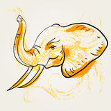 Arte do elefante Imagem de Stock