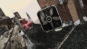 Arte do fã desarrumado Fotografia de Stock