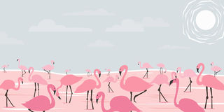 Arte do flamingo ilustração do vetor