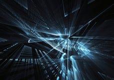 Arte do Fractal - imagem do computador, fundo tecnologico Imagens de Stock Royalty Free