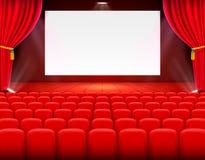 Arte do fundo do cinema da cena, desempenho na fase ilustração stock