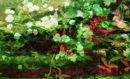 Arte do fundo de Digitas do teste padrão floral/flor ilustração stock