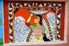 arte do hawker_Wall da mulher para as festividades de anos novos de Bangla Imagens de Stock