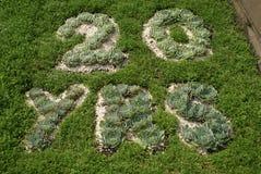 Arte do jardim Projeto do jardim 20 anos de sumário natural Foto de Stock