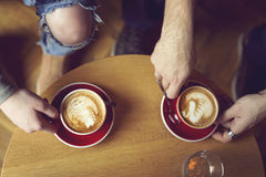 Arte do Latte Imagem de Stock Royalty Free