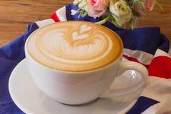Arte do latte do café Fotografia de Stock Royalty Free