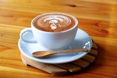 Arte do latte do café imagens de stock royalty free