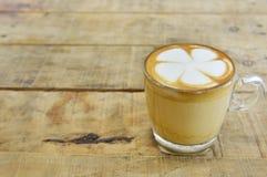 Arte do latte do café Fotos de Stock Royalty Free