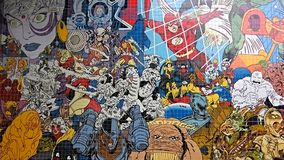 Arte do mosaico da banda desenhada fotos de stock royalty free