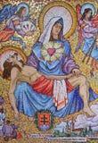 Arte do mosaico da igreja do aviso Fotografia de Stock Royalty Free