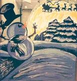Arte 1 do Natal fotos de stock