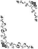 Arte do Ornamental da folha da folha das borboletas ilustração royalty free