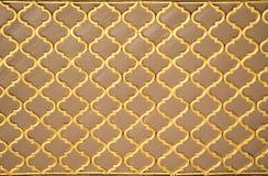 Arte do otomano com testes padrões geométricos na madeira Fotografia de Stock