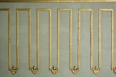 Arte do otomano com testes padrões geométricos na madeira Fotografia de Stock Royalty Free