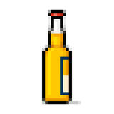 Arte do pixel da garrafa de cerveja Foto de Stock Royalty Free